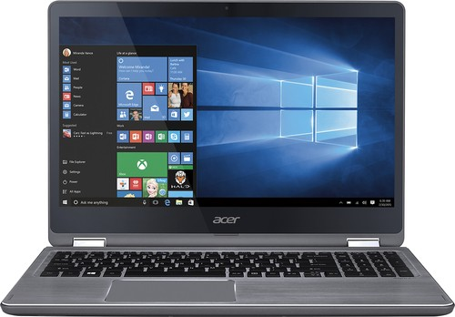"Acer - Aspire R 15 2-in-1 15.6"" Touch-Screen Laptop - Intel Core i5 - 8GB Memory - 1TB Hard Drive - Steel gray"