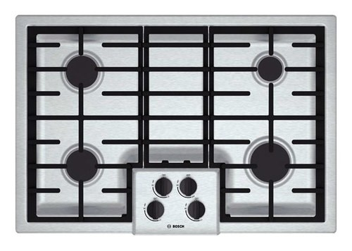 "Bosch - 500 Series 30"" Built-In Gas Cooktop - Stainless Steel"
