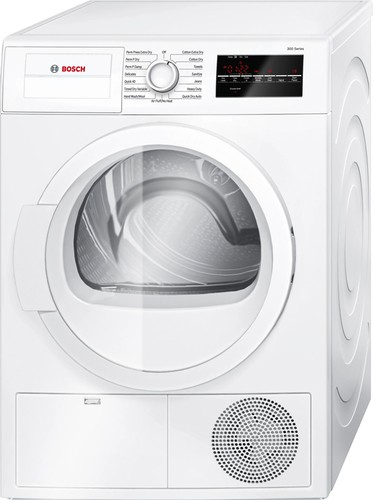 Bosch - 300 Series 4.0 Cu. Ft. 15-Cycle Compact Electric Dryer - White