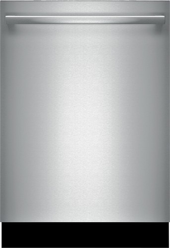 "Bosch - 800 Series 24"" Tall Tub Built-In Dishwasher with Stainless-Steel Tub - Stainless Steel"