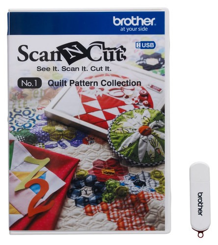 Brother - ScanNCut No. 1 Quilt Pattern Collection - White