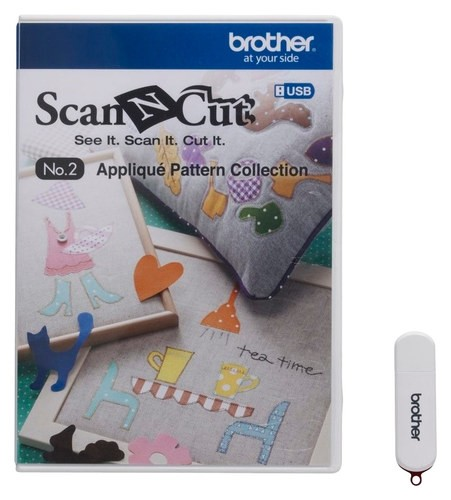 Brother - ScanNCut No. 2 Appliqué Pattern Collection - White