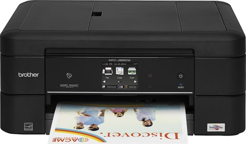 Brother - MFC-J885DW Wireless All-In-One Printer - Black