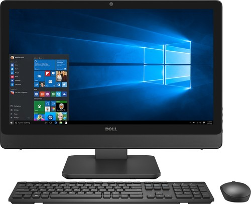 "Dell - Inspiron 23.8"" Touch-Screen All-In-One - Intel Core i5 - 12GB Memory - 1TB Hard Drive - Silver/Black"