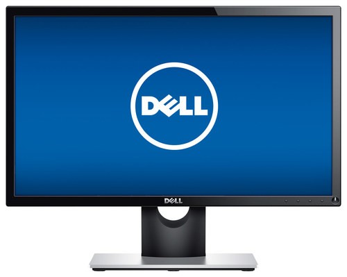 "Dell - SE2716H 27"" LED Curved HD Monitor - Piano black"