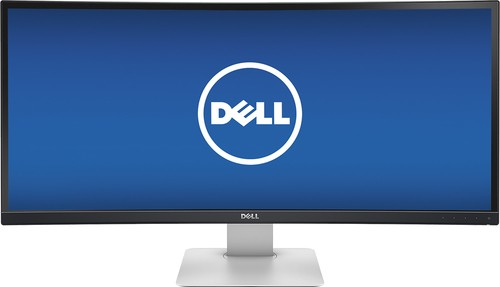 "Dell - UltraSharp 34"" IPS LED Curved HD 21:9 Ultrawide Monitor - Black"