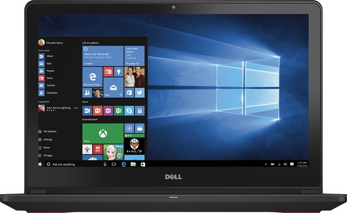 "Dell - 15.6"" Laptop - Intel Core i7 - 8GB Memory - 1TB Hard Drive + 128GB Solid State Drive - Black"