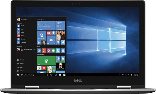 "Dell - Inspiron 2-in-1 15.6"" Touch-Screen Laptop - Intel Core i7 - 12GB Memory - 512GB Solid State Drive - Gray"