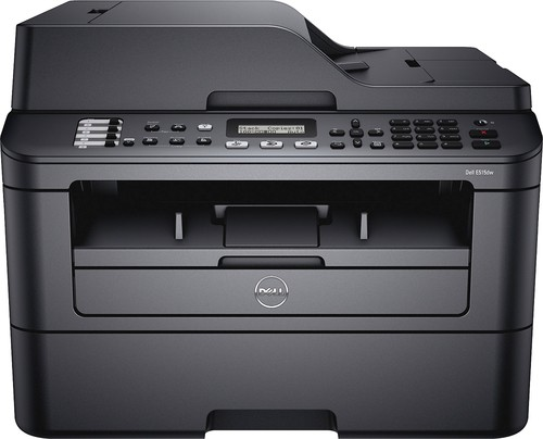 Dell - E515dw Wireless Black-and-White All-In-One Laser Printer - Black