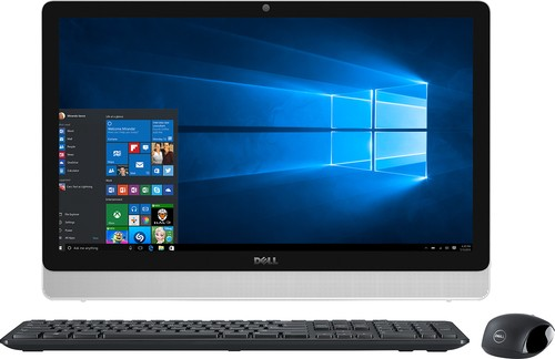 "Dell - Inspiron 23.8"" All-In-One - AMD A6-Series - 4GB Memory - 500GB Hard Drive - Black/White"