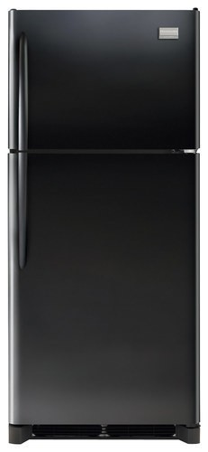 Frigidaire - Gallery 20.4 Cu. Ft. Top-Freezer Refrigerator - Black