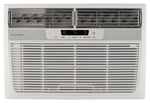 Frigidaire - 12,000 BTU In-Wall/Window Air Conditioner and 11,000 BTU Heater - White