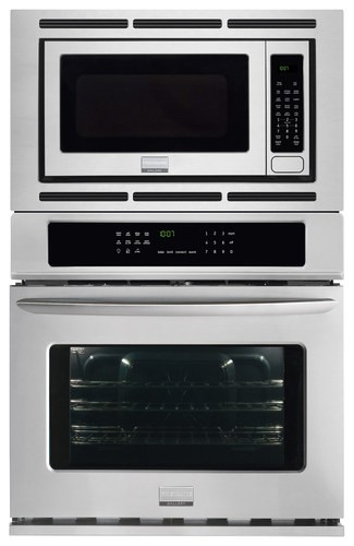 "Frigidaire - Gallery 27"" Single Electric Convection Wall Oven with Built-In Microwave - Stainless Steel"