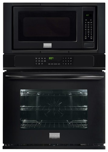 "Frigidaire - Gallery 27"" Single Electric Convection Wall Oven with Built-In Microwave - Black"