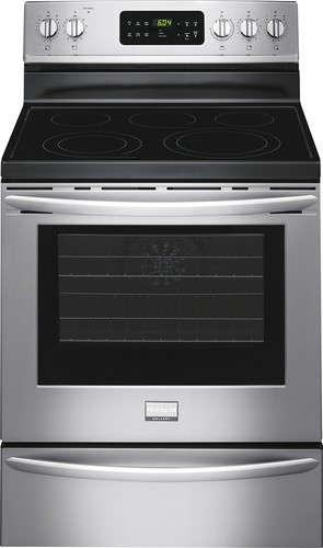 "Frigidaire - Gallery 30"" Self-Cleaning Freestanding Electric Convection Range - Stainless Steel"