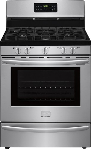Frigidaire - Gallery 5.0 Cu. Ft. Self-Cleaning Freestanding Gas Convection Range - Stainless Steel