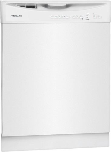 "Frigidaire - 24"" Tall Tub Built-In Dishwasher - White"