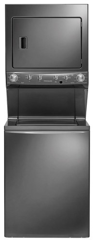 Frigidaire - 3.8 Cu. Ft. 9-Cycle Washer and 5.5 Cu. Ft. 9-Cycle Dryer Gas Laundry Center - Classic Slate