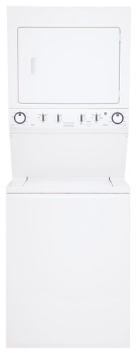 Frigidaire - 3.8 Cu. Ft. 9-Cycle Washer and 5.5 Cu. Ft. 9-Cycle Dryer Gas Laundry Center - Classic White