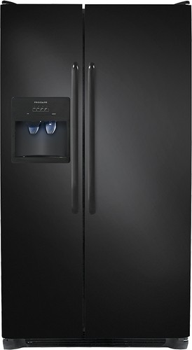 Frigidaire - 25.6 Cu. Ft. Side-by-Side Refrigerator with Thru-the-Door Ice and Water - Ebony Black
