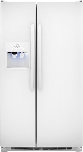 Frigidaire - 22.6 Cu. Ft. Side-by-Side Refrigerator with Thru-the-Door Ice and Water - Pearl White