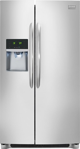 Frigidaire - Gallery 22.6 Cu. Ft. Counter-Depth Side-by-Side Refrigerator - Stainless Steel