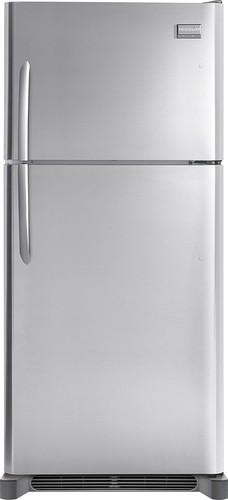 Frigidaire - 18.3 Cu. Ft. Frost-Free Custom-Flex Top-Freezer Refrigerator - Stainless Steel