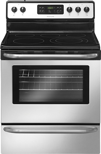 "Frigidaire - 30"" Self-Cleaning Freestanding Electric Range - Stainless Steel"
