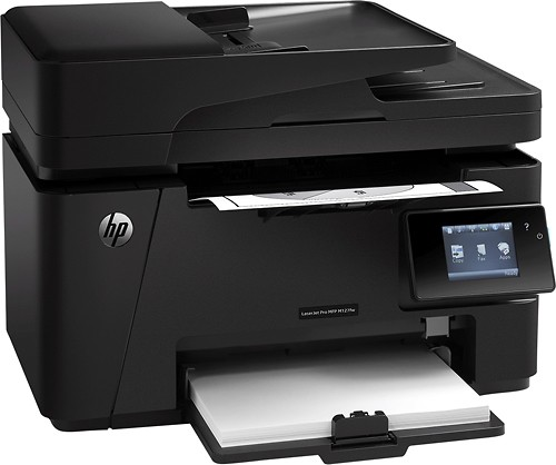 HP - LaserJet Pro MFP M127fw Wireless Black-and-White All-in-One Laser Printer - Black