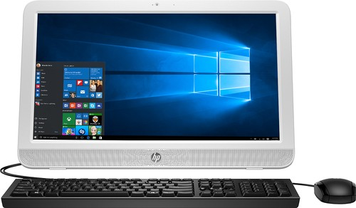"HP - 19.45"" All-in-One - Intel Celeron - 4GB Memory - 500GB Hard Drive - Blizzard White"