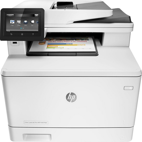 HP - LaserJet Pro MFP m477fdn Color All-In-One Printer - White