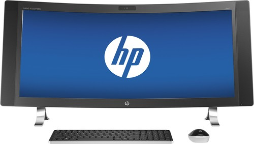 "HP - ENVY 34"" Curved All-In-One - Intel Core i5 - 12GB Memory - 1TB Hard Drive - Silver"