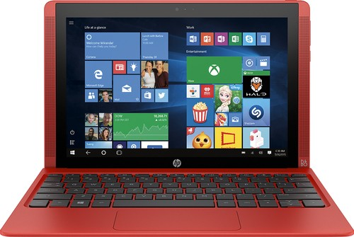 "HP - Pavilion x2 - 10.1"" - Tablet - 64GB - With Keyboard - Sunset Red"