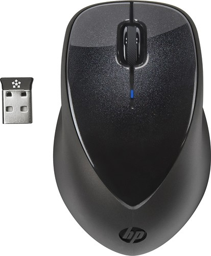 HP - X4000 Wireless Laser Mouse - Black