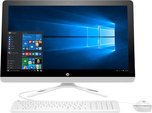 "HP - 23.8"" Touch-Screen All-In-One - Intel Core i3 - 8GB Memory - 1TB Hard Drive - Black, White"