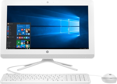 "HP - 19.5"" All-In-One - AMD E2-Series - 4GB Memory - 1TB Hard Drive - HP finish in snow white"