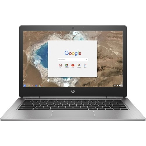 "HP - 13.3"" Chromebook - Intel Pentium - 4GB Memory - 32GB Solid State Drive - Silver"