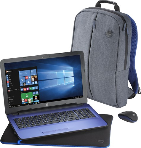 "HP - 15.6"" Laptop - Intel Core i3 - 4GB Memory - 1TB Hard Drive - Textured linear grooves with horizontal brushing"