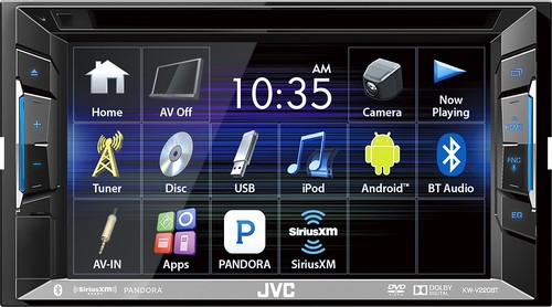 "JVC - 6.2"" - CD/DVD - Built-In Bluetooth - Apple® iPod®-Ready - In-Dash Receiver - Black"