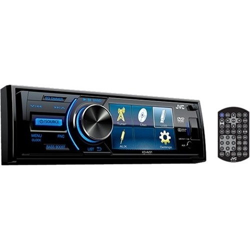 JVC - In-Dash CD/DVD/DM Receiver with Detachable Faceplate - Black