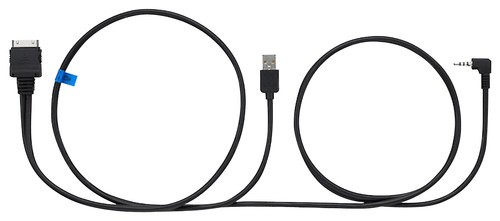 JVC - 6' USB Video Cable for Select Apple® iPod® Models and iPhone® 4 and 4S - Black