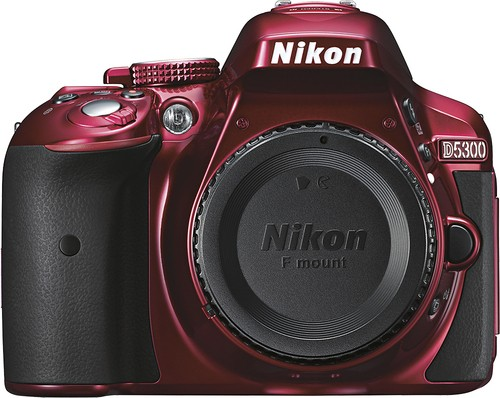 Nikon - D5300 DSLR Camera (Body Only) - Red