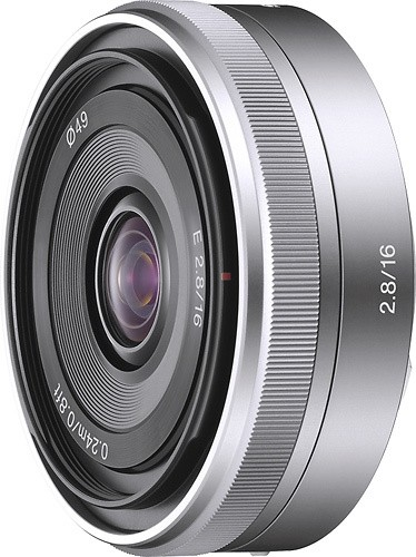 Sony - 16mm f/2.8 E-Mount Wide-Angle Lens - Silver