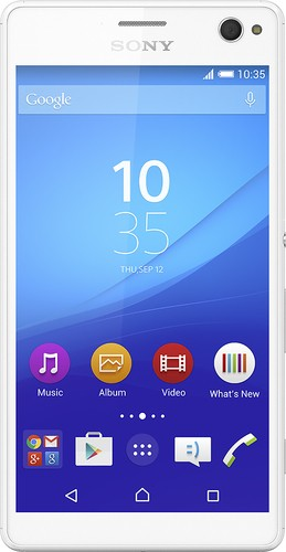 Sony - Xperia C4 4G with 16GB Memory Cell Phone (Unlocked) - White