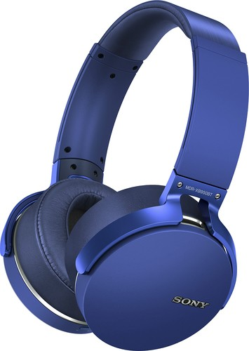 Sony - Extra Bass Wireless Over-the-Ear Headphones - Blue