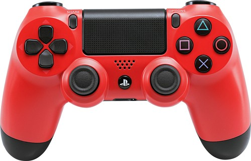 Sony - DUALSHOCK 4 Wireless Controller for PlayStation 4 - Magma Red