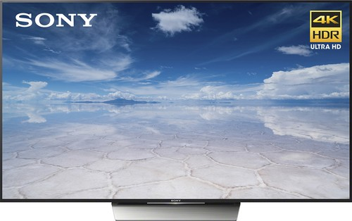 "Sony - 85"" Class (84.5"" diag) - LED - 2160p - Smart - 4K Ultra HDTV with High Dynamic Range - Black"