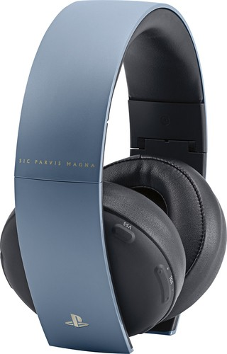 Sony - Uncharted 4 Limited Edition Gold Wireless 7.1 Headset - Gray Blue