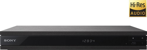 Sony - UHP-H1 - Streaming 4K Upscaling Wi-Fi Built-in Hi-Res Audio Blu-ray Player - Black
