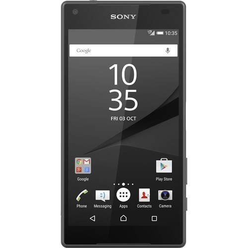 Sony - Refurbished Xperia Z5 Compact 4G LTE with 32GB Memory Cell Phone (Unlocked) - Graphite Black